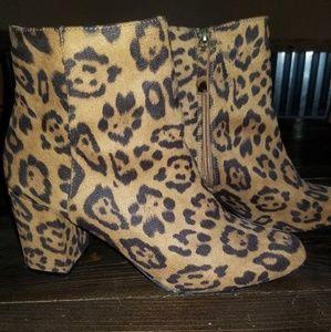 Leopard booties size 10